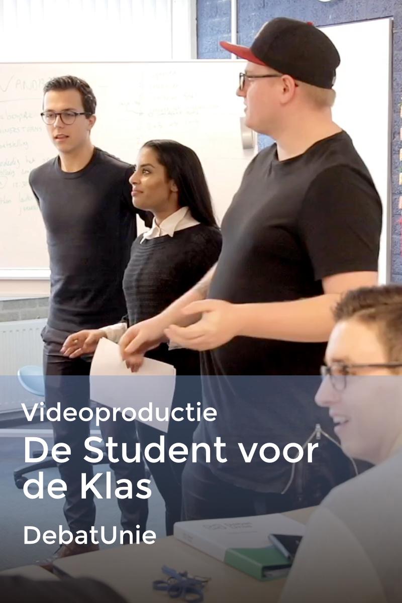 De student voor de klas