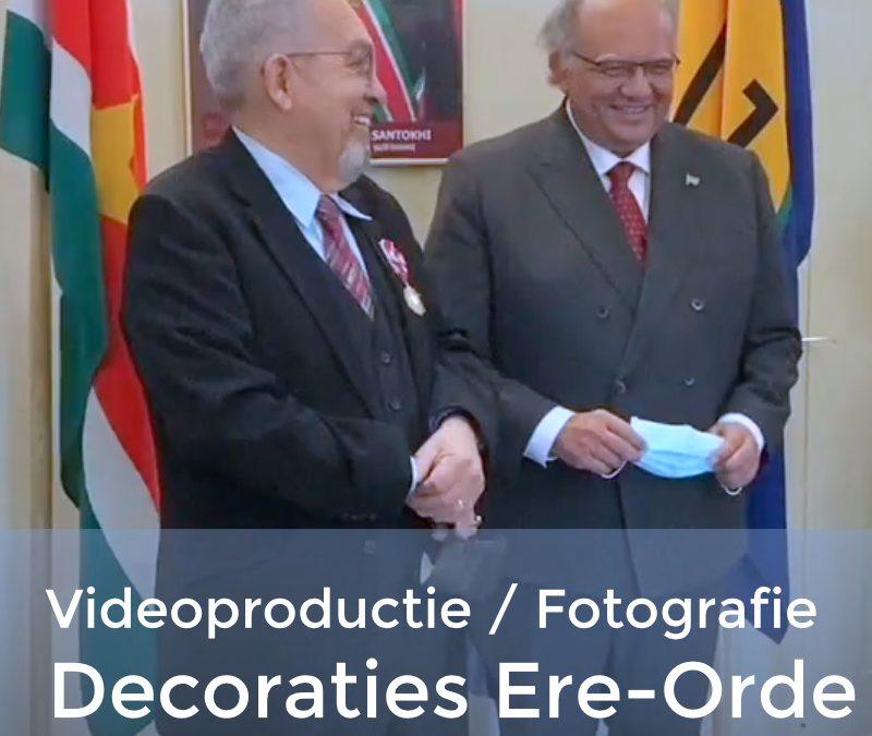 Decoratie in de Ere-Orde van de Gele Ster door de Surinaamse Ambassade in Nederland