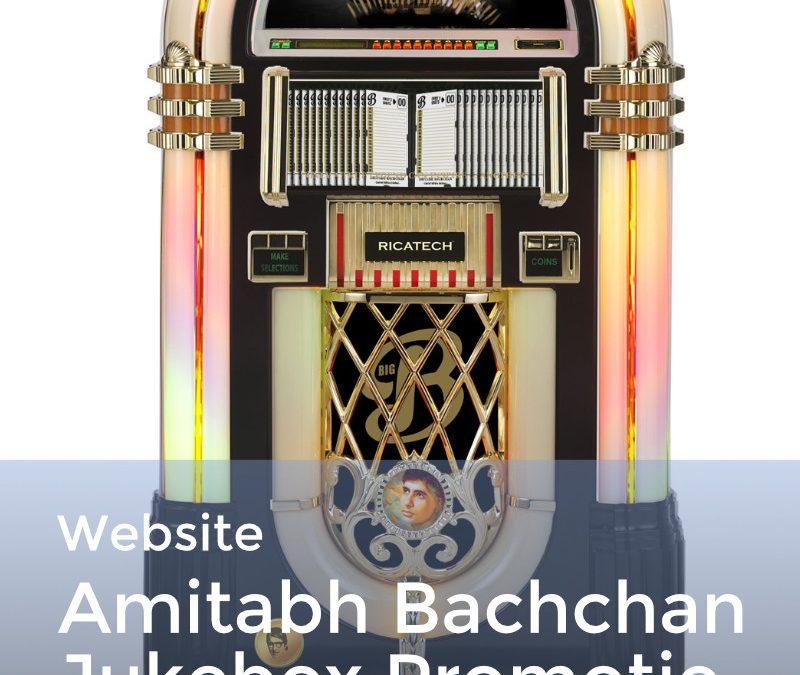 Limited Edition Amitabh Bachchan Jukebox promotie site
